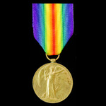 Victory Medal awarded to Private F.T. Peck, Gloucestershire Regiment, later Royal Engineers, Worc...