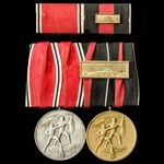 Germany – Third Reich: A Pair of Medals comprising; Entry into Austria Medal 13th March 1938; Ent...