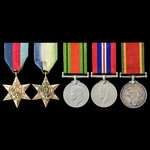 Second World War South African Naval Forces group awarded to Signaller W.T. Seale, South African ...