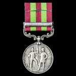 India General Service Medal 1895-1902, 1 Clasp: Punjab Frontier 1897-98, awarded to Private W. Ty...