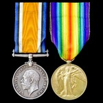 Great War pair awarded to Private A. Dennis, Wiltshire Regiment.
