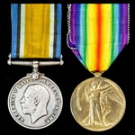 Great War pair awarded to Private E. Reeves, 1st/4th Battalion, Royal West Kent Regiment.