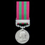 An India General Service Medal 1895-1902, 1 Clasp: Punjab Frontier 1897-98, awarded to Jemadar S...