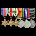 Second World War North Africa 1st Army and Italy campaign with scarce Efficiency Medal for the Mi...