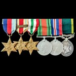 Second World War North Africa 1st Army and Italy campaign Territorial long service group awarded ...