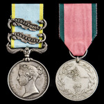 Crimean War Naval Brigade Inkermann and Attack on the Quarries 7th June 1855 Casualty pair awarde...