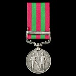 India General Service Medal 1895-1902, 1 Clasp: Punjab Frontier 1897-98, awarded to Private R. Ro...