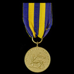 Ethiopia - Menelik II gold medal (gilt) with ring and loop suspension apparently manufactured fro...