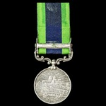 India General Service Medal 1908-1935, 1 Clasp: North West Frontier 1930-31, awarded to a Sikh, S...