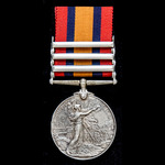 A Queen's South Africa Medal 1899-1902, 3 Clasps: Cape Colony, Orange Free State, South Africa 19...