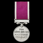 Regular Army Long Service and Good Conduct Medal, GVR Crowned head bust, awarded to Colour Sergea...