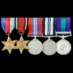 Second World War Burma and post-war South East Asia operations group awarded to Captain S.K. Chat...