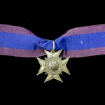 Sweden: Grand Order of the Amaranth, 3rd Class neck badge, bronze. Incorrect ribbon. Scarce.