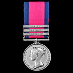 Military General Service Medal 1793-1840, 3 Clasps: Corunna, Nivelle, Nive, awarded to Guardsman ...
