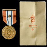 Norway: Defence Medal 1939-1945, mounted with original ribbon and brooch bar, and with packet of ...