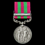 India General Service Medal 1895-1902, 1 Clasp: Punjab Frontier 1897-98, awarded to Private D. Br...