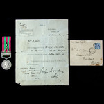 India General Service Medal 1895-1902, 1 Clasp: Punjab Frontier 1897-98, awarded to Rifleman W. B...