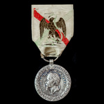 France: 1862-63 Mexico Expedition Medal, 'Barre' marked on the obverse, 30.8mm.