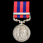 India General Service Medal 1854-1895, 1 Clasp: Perak awarded to Private J. Brady, 1st Battalion,...