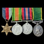 Second World War Territorial long service group awarded to Driver C.A. Lindsell, Royal Army Servi...