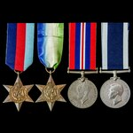 Second World War Home Waters Submarine Swordfish Casualty long service group awarded to Stoker Pe...