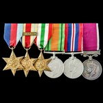 Second World War North Africa 1st Army and Italy, Regular Army long service group awarded to Guar...