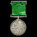 Volunteer Force Long Service Medal, EVII bust, impressed naming, awarded to Private R. Stacey, 2n...