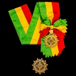 Ethiopia - Imperial Order of the Star of Ethiopia, Grand Officers sash badge, 106mm with crown su...