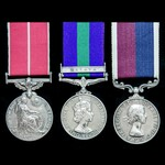 A fine Queen's Coronation Honours 1953 British Empire Medal, Malayan Emergency and long service g...