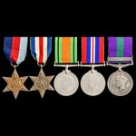 Second World War North West Europe and post war Palestine Jewish Revolt group awarded to Private ...