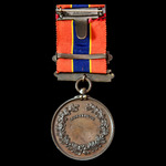 National Fire Brigades Association Long Service Medal in Bronze, complete with Ten Years suspensi...
