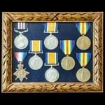 Great War family group of awards to the three Adcock brothers of Hopton-on-Sea, Great Yarmouth, N...