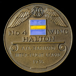 Royal Air Force Halton No.4 Wing RAF Halton Hockey Prize Medal, bronze and enamels, engraved to: ...