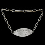   A Silver Identity Bracelet as worn by Flying Officer B. O'Leary, Royal Air Force Volunteer Res...