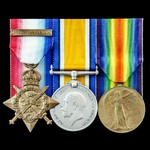 Great War 1914 Casualty group awarded to Corporal W. Dewars, 2nd Battalion, King's Royal Rifle Co...