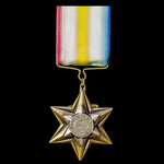 Punniar Star 1943, fitted with modified brass wire suspension, awarded to Private Harry Wood, 3rd...