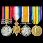 South Africa Boer War and Great War 1914 group awarded to Private J. Forecast, 12th Royal Lancers...