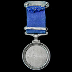 7th Sussex Rifle Volunteers Company Best Shot Medal, silver, hallmarks for London with date lette...