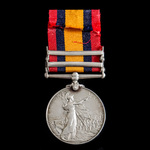 Queen's South Africa Medal 1899-1902, 2 Clasps: Cape Colony, South Africa 1901, awarded to Gunner...