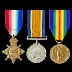 Great War Third Battle of Ypres casualty trio awarded to Lance Corporal W. Bennett, 1st/5th Cinqu...