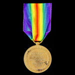 Victory Medal awarded to Private J. Bird, Somerset Light Infantry, later Labour Corps.