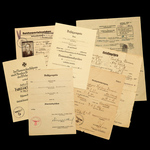 Germany – Third Reich: A Rare Sports Badge for the War Disabled Group of 4 Certificates and other...