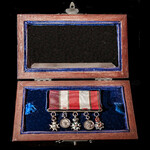 A very fine unattributed British Officer's Crimean War period 'continental' size miniature medal ...
