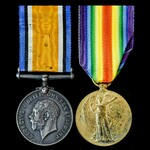 Great War pair awarded to Sapper J.A.H. King, Royal Engineers.