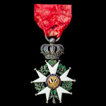 France - Order of the Legion of Honour, Henri IV, Knight, with original frayed ribbon.