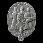 Germany - Third Reich: NSDAP Tag der Arbeit 1935 (Worker's Day) Tinnie Badge, bearing markers mar...