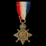 1914-1915 Star awarded to Private later Corporal and Lance Sergeant T.C. Loughton, Middlesex Regi...