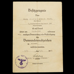 Germany – Third Reich: The Novorossisyk Iron Cross 2nd Class Document Group to Obergefreiter Geor...
