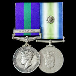 Malayan Emergency and Falklands War 1982 pair awarded to Signalman D. Noble, Royal Signals, later...