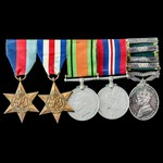 Second World War North West Europe Attempt to relieve Arnhem Casualty and Efficiency Medal with a...